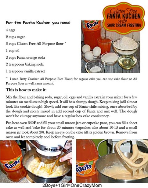 Fanta Kuchen #Recipe Gluten Free #SpookySnacks #Shop