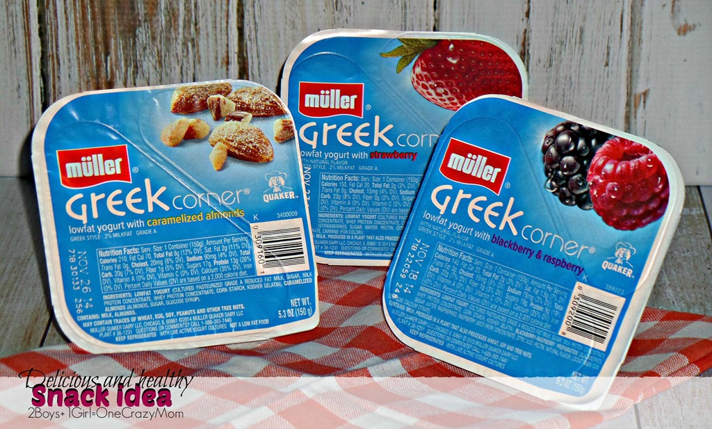 Looking for a delicious and healthy snack ~ Check out Müller Greek Corner Yogurt