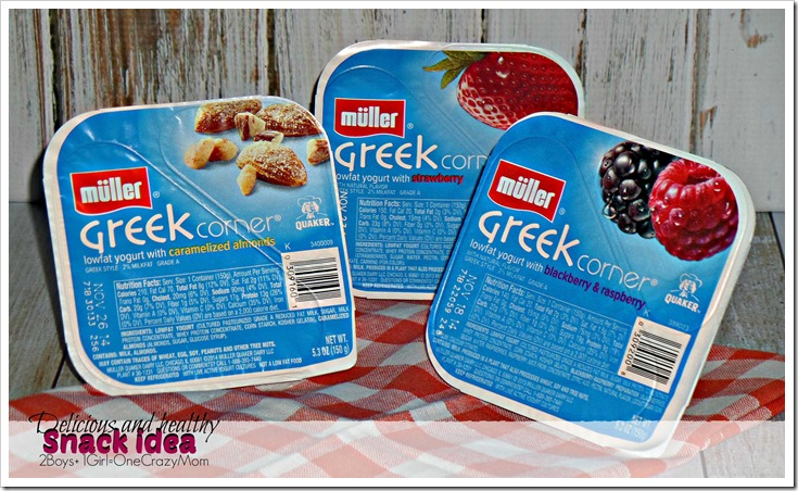 Looking for a delicious and healthy snack ~ Check out Müller Greek Corner Yogurt  #Shop