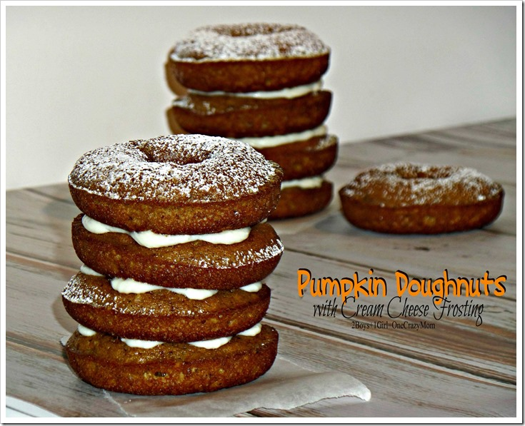 Pumpkin Doughnuts with Cream Cheese Frosting simple and delicious #Recipe