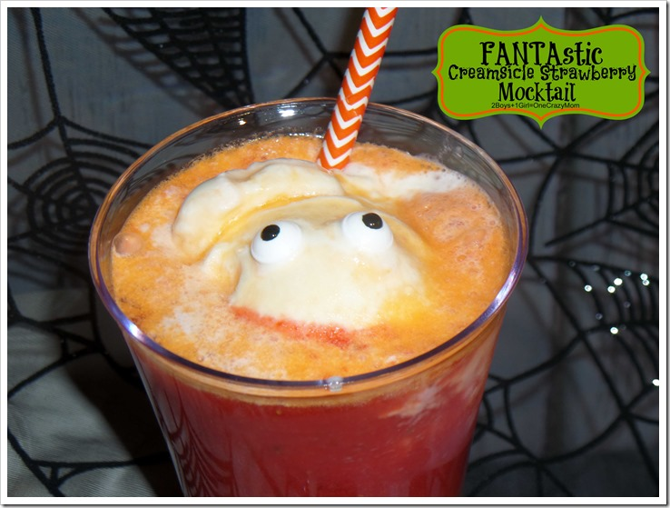 FANTAstic Creamsicle Strawberry Mocktail for your #Halloween party #Recipe