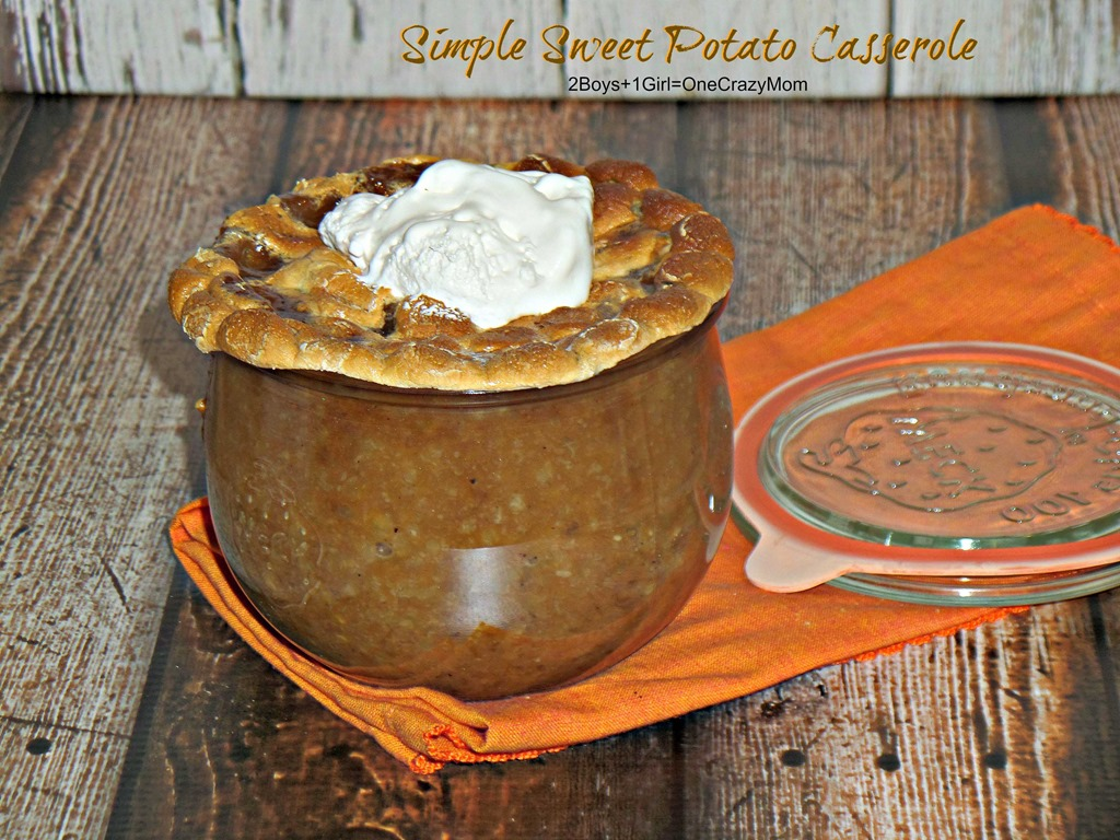 Bring a simple Sweet Potato Casserole as a last minute side dish to your Thanksgiving dinner and it's a budget friendly #Recipe too