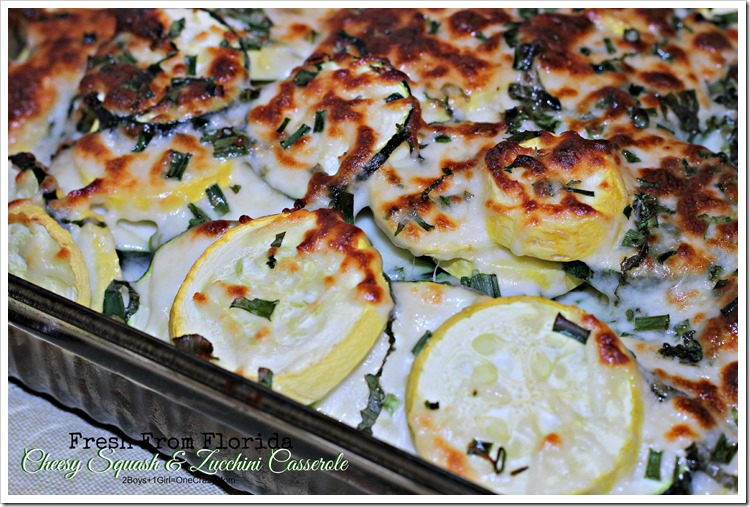 Dish up a Fresh from Florida Cheesy Squash and Zucchini Casserole #Recipe #ad