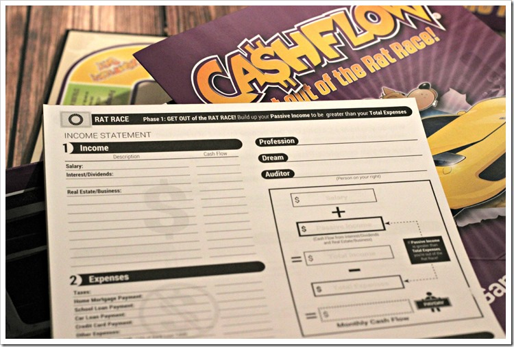 Teach Teens about money in a fun way with the CASHFLOW board game