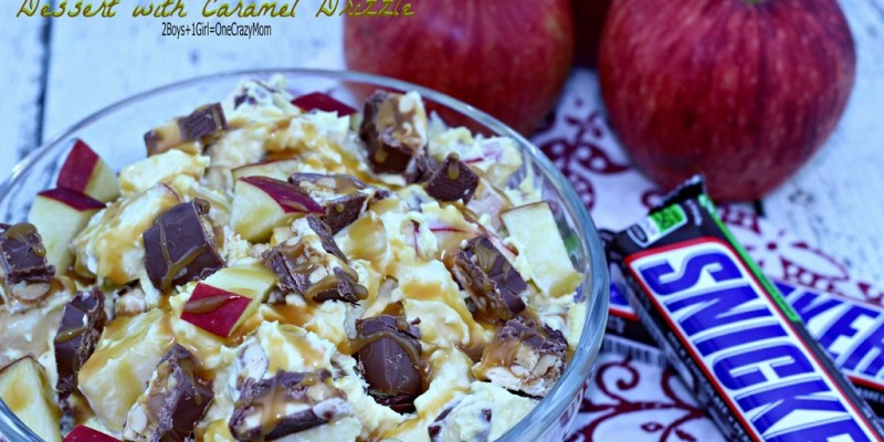 Get ready for some football with #BigGameTreats like my SNICKERS Apple Banana Pudding with Caramel Drizzle dessert #Recipe