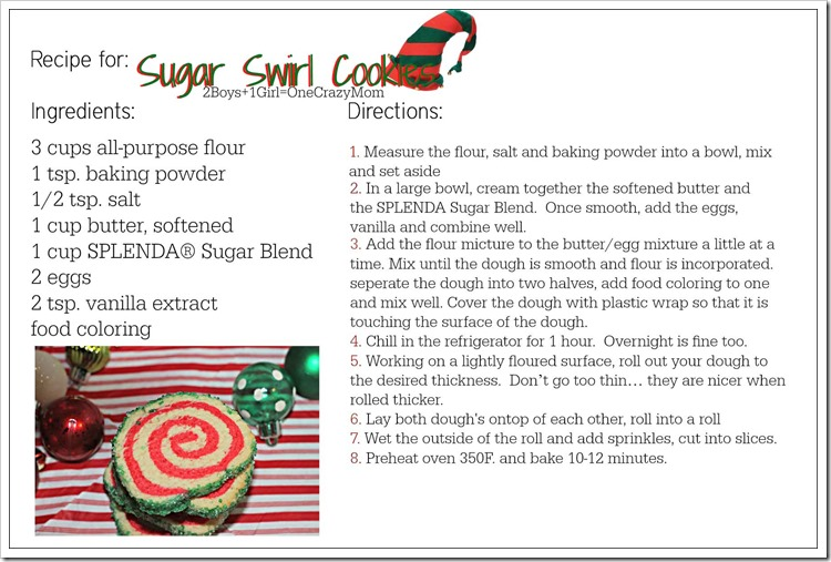 Sugar Swirl Cookie #Recipe Card