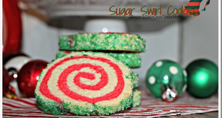 Sugar Swirl Cookie #Recipe to dish up for Christmas #SweetSwaps