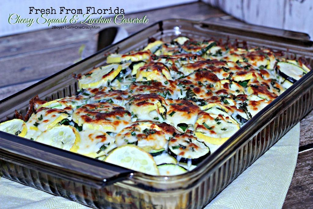 Dish up a Cheesy Squash & Zucchini Casserole Fresh From Florida #Recipe