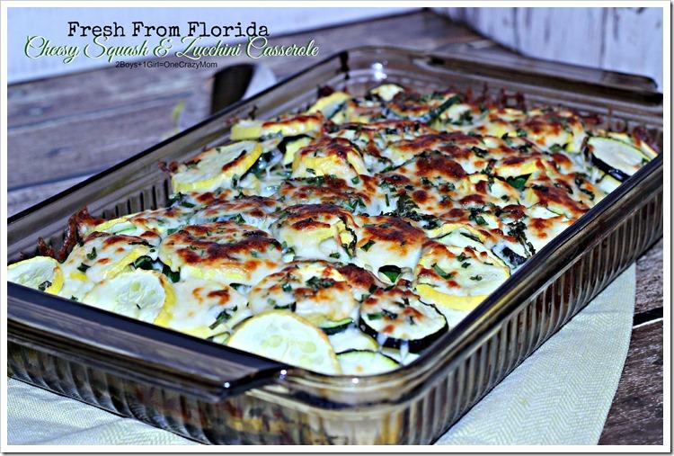 You will love the Fresh from Florida Cheesy Squash and Zucchini Casserole #Recipe #ad
