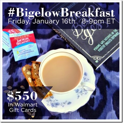 Have a little Twitter tea time #BigelowBreakfast ~ Come join me for some fun