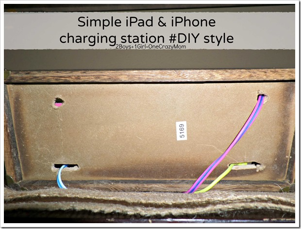 Create a simple #DIY iPhone and iPad charging station to match your decor