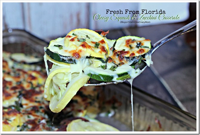 Fresh from Florida Cheesy Squash and Zucchini Casserole #Recipe #ad