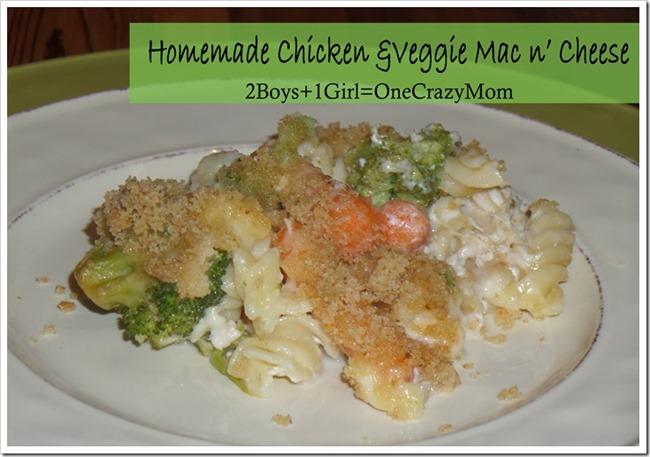 Homemade-Chicken-and-Veggie-mac-n-cheese-_Countrycrockcasserole #Recipe