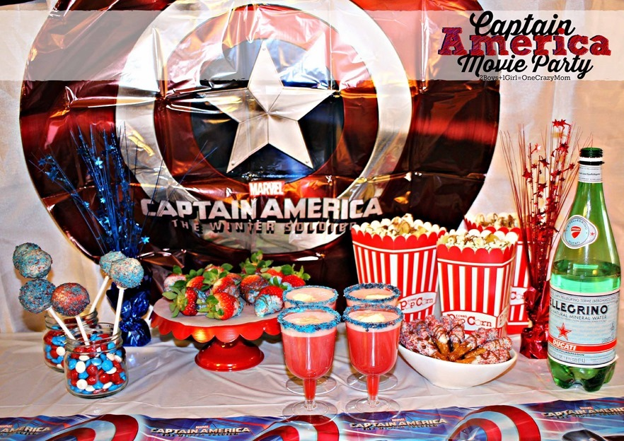 Check out my Captain America Party Ideas and enter the #MovieLovers Sweeps