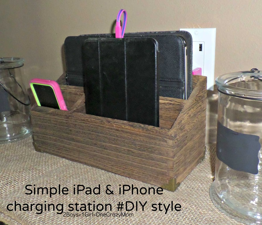 Create a simple #DIY iPhone and iPad charging station to match your