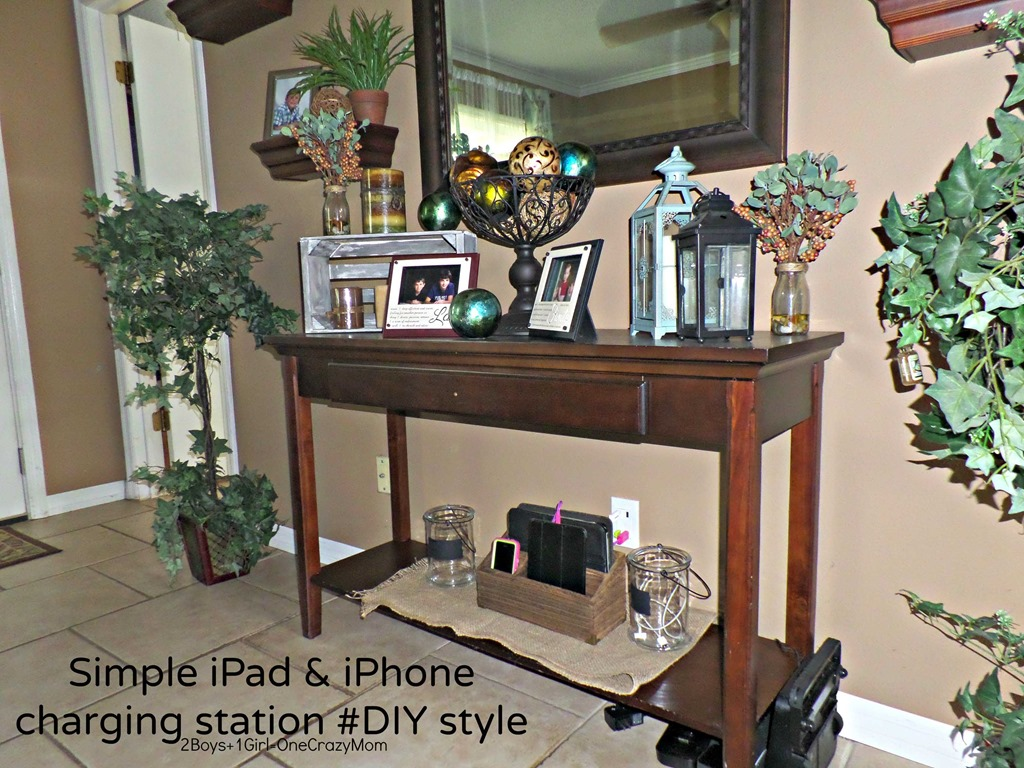 Make Charging Station Create A Simple Diy Iphone And Ipad Charging Station To Match