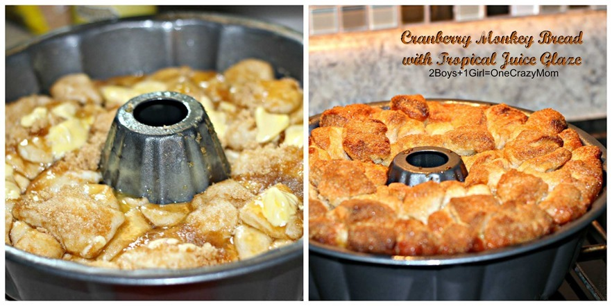 Simple Cranberry Monkey Bread #Recipe with #SimplyJuiceDrinks glaze how to make