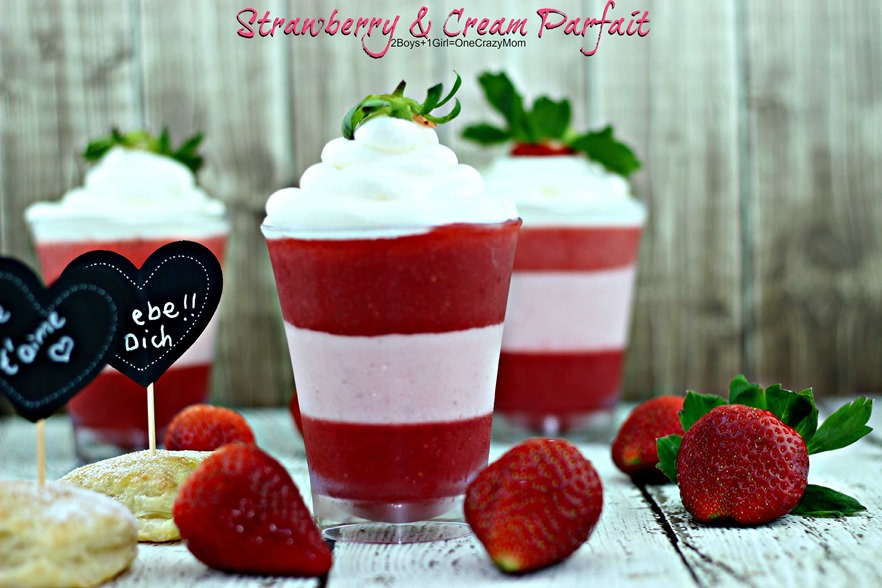 Simple Strawberry & Cream Parfait #Recipe