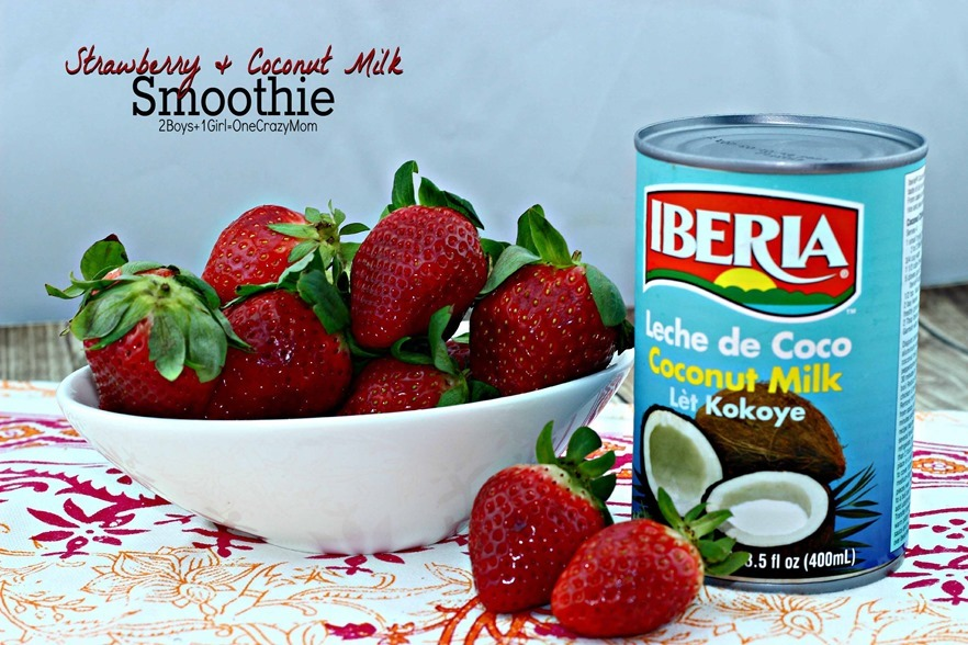 Strawberry & Coconut Milk Smoothie #Recipe