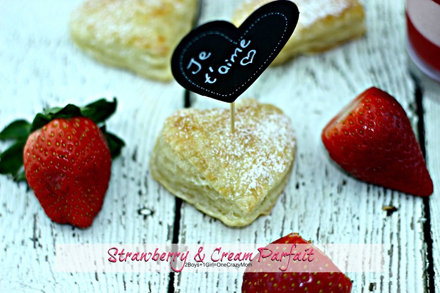 Strawberry & Cream Parfait Puff pastry #Recipe idea