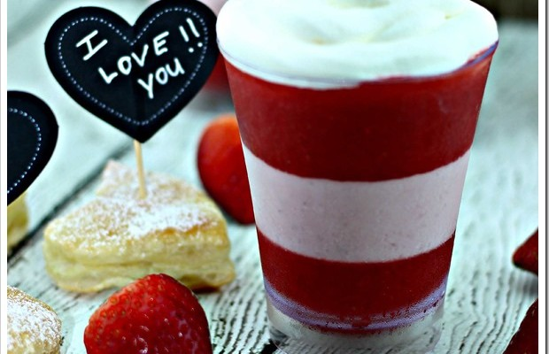 Sweet Valentines Day treat Strawberry & Cream Parfait for your Cubit #Recipe
