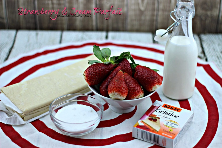 Strawberry & Cream Parfait  #Recipe