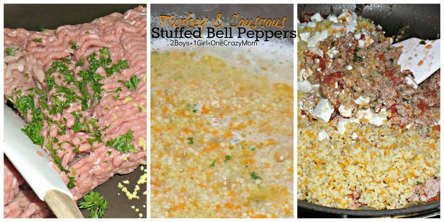 Stuffed Bell Peppers with Turkey & Cuscus Stuffing #Recipe