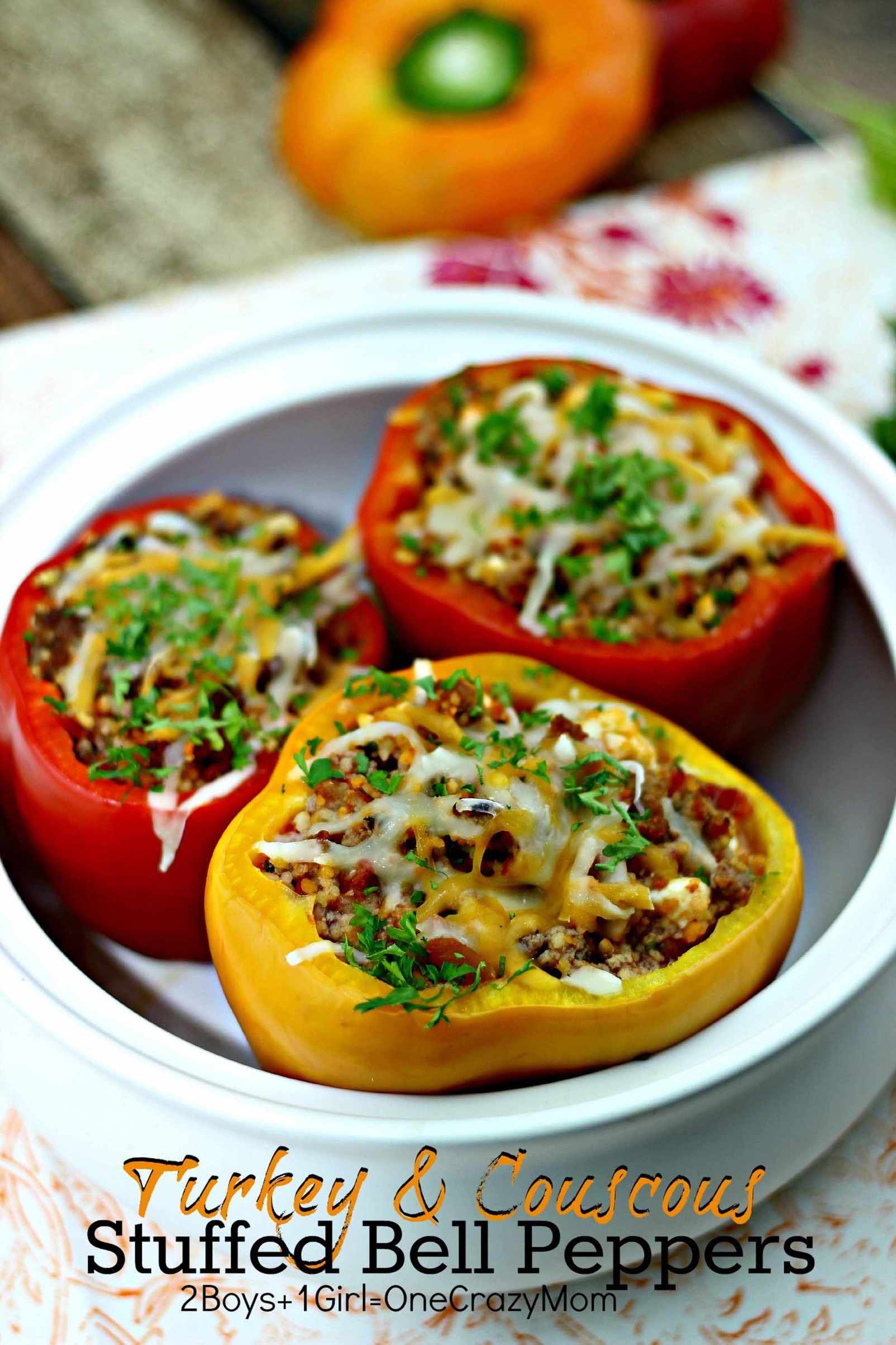 Stuffed Pepper with Turkey & Cuscus Filling #Recipe Fresh From Florida 2