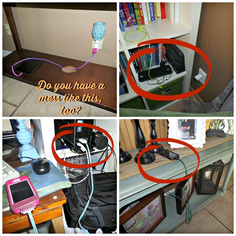 Tired Of Charger Cords All Over The House Diy Idea