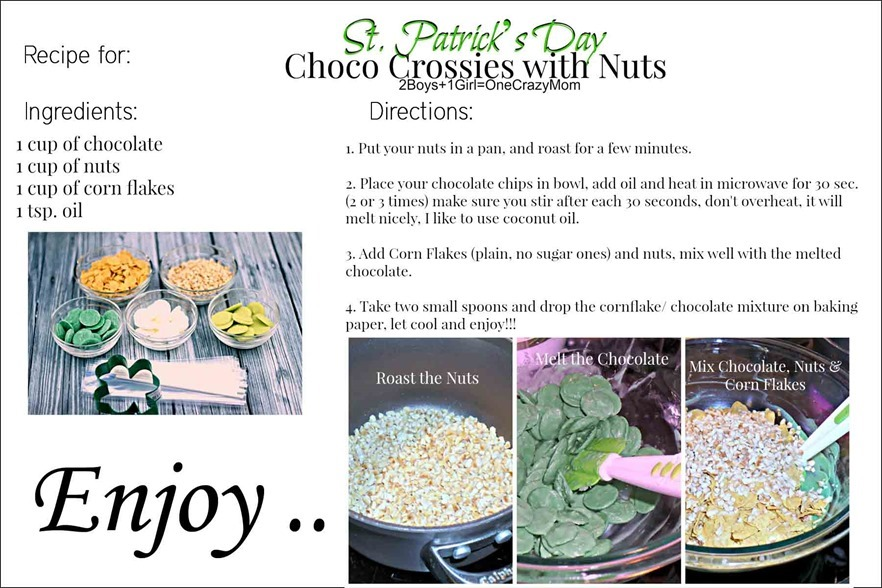 Choco Crossies #Recipe Card
