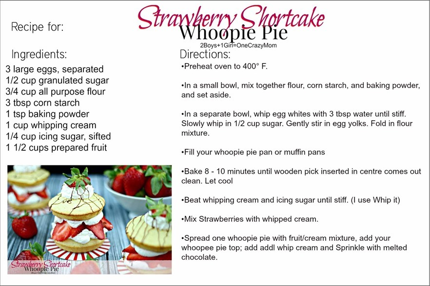 Printable Recipe Strawberry Shortcake copy