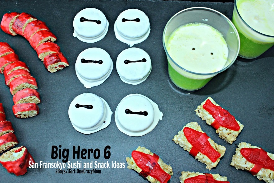 Snack ideas for the #BigHero6Release 3