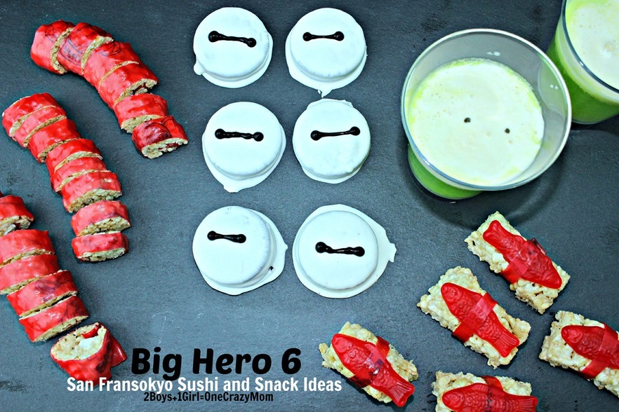 Snack ideas for the #BigHero6Release 4