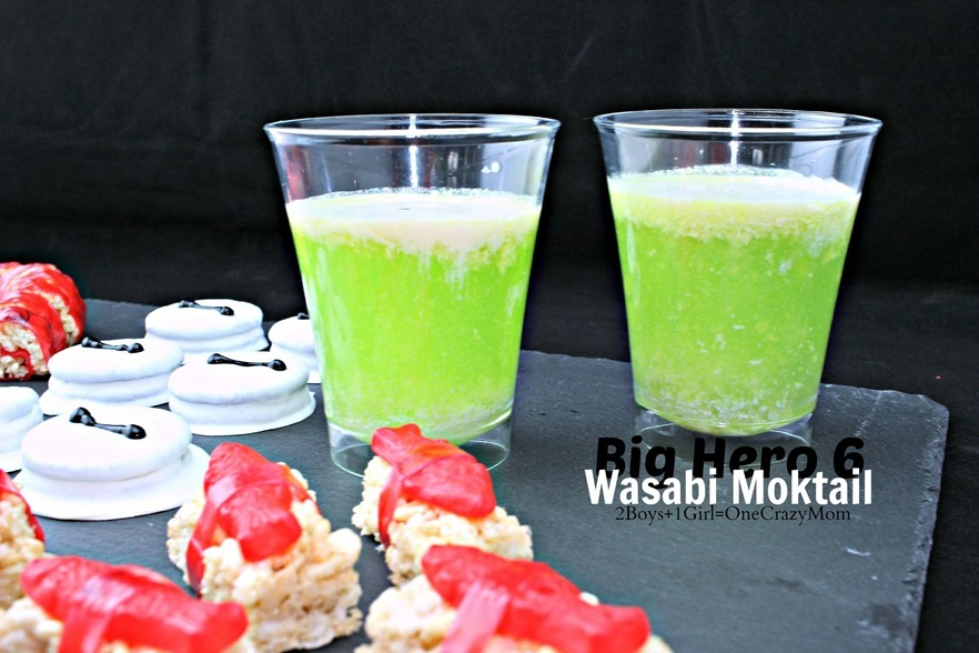 Snack ideas for the #BigHero6Release Wasabi Drink