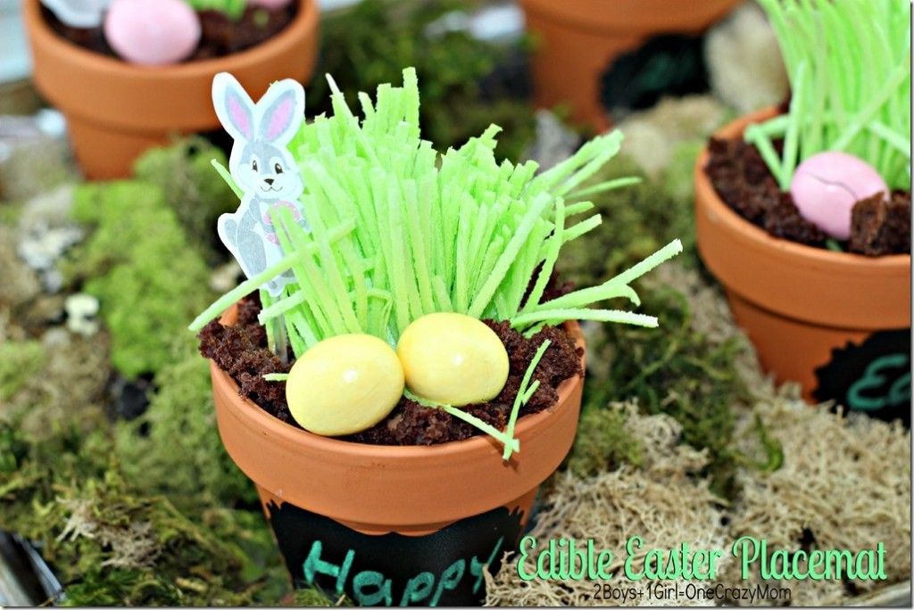 Create a fun Edible Easter Placemat #Recipe