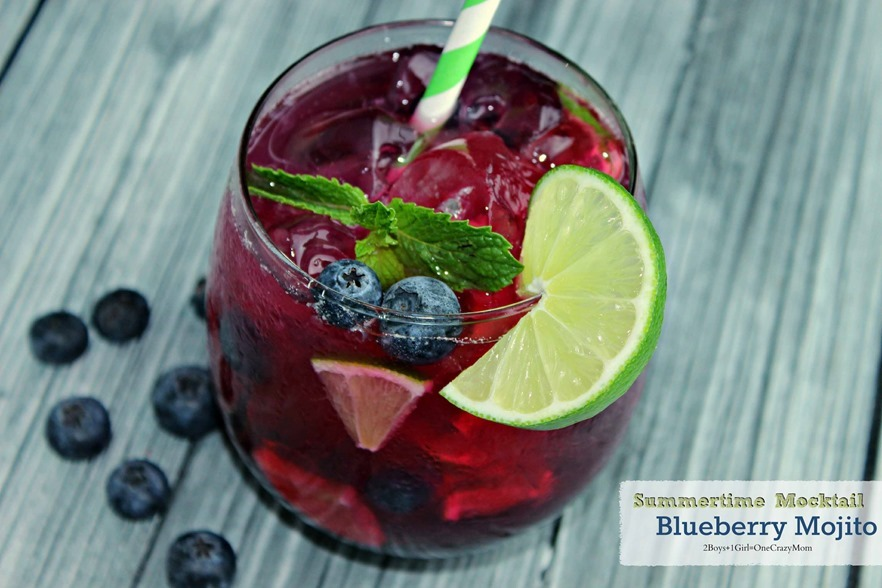 Blueberry Mijito #Recipe Virgin drink idea #CreativeHop