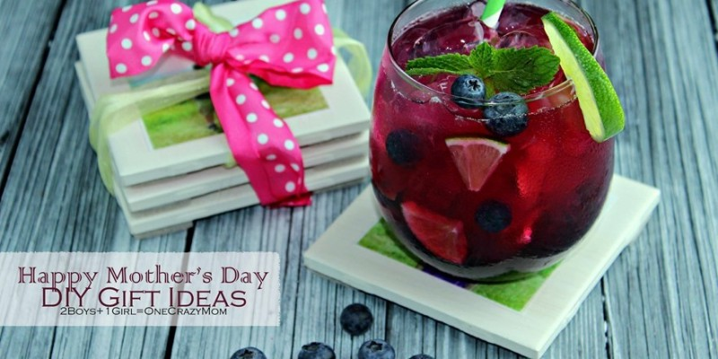 Easy DIY Photo Coasters and a delicious Mocktail to spoil mom #CreativeHop