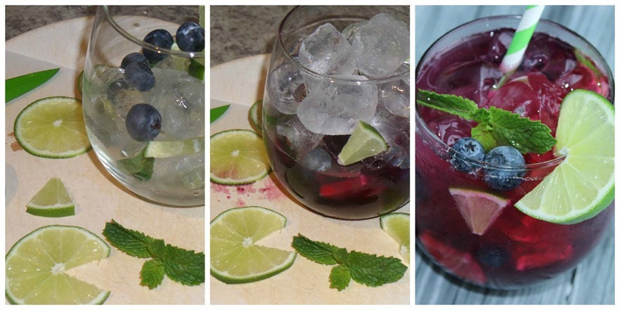 Summertime Mocktail Blueberry Mojito #CreativeHop #Recipe So simple