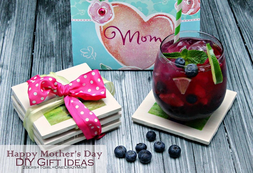 Surprise mom with a fun mocktail and #DIY Drink coasters #CreativeHop and it won't break your budget