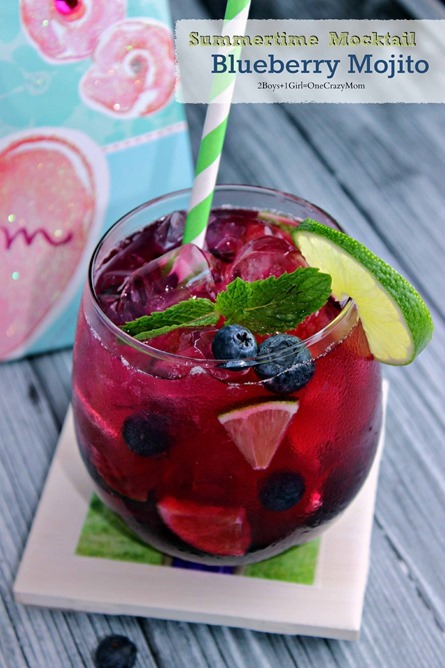 surprise mom this mothers day with a fun #DIY tile coaster set and a blueberry Mojito #Recipe idea #CreativeHop