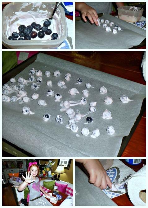 #BountyQuickerPickerUpper Yogurt Blueberries #Recipe idea