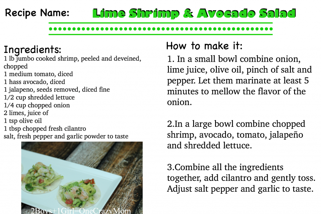 Lime Shrimp and Avocado Salad #Recipe