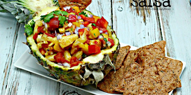 Create a simple Tomato Pineapple & Mango Salsa #HuntsFreshTwists idea