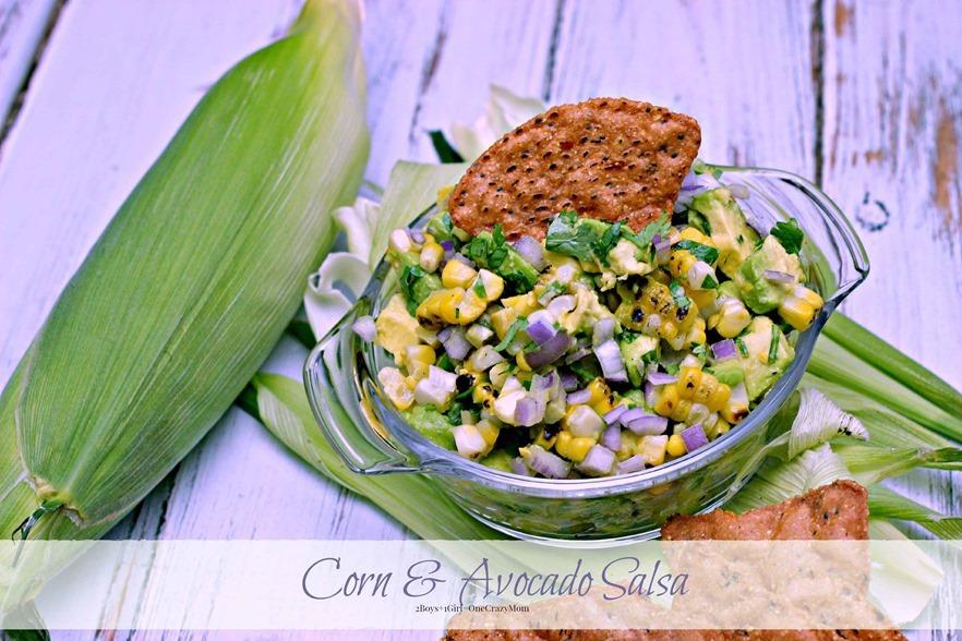 dish up a simple delicious #FreshFromFl Corn Avocado Salsa copy
