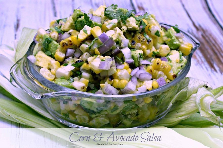 simple delicious #FreshFromFl Corn Avocado Salsa