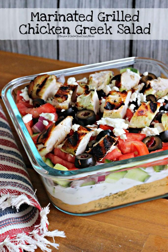 Marinated Chicken Greek salad  #KingOfFlavor