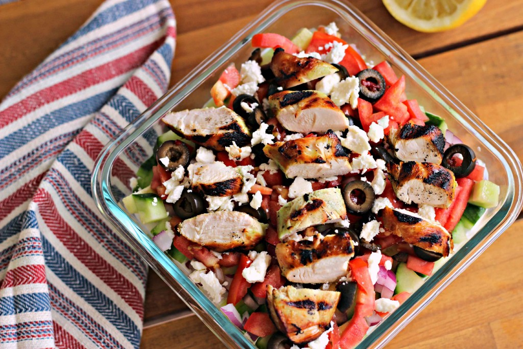 Marinated Chicken Greek salad  #KingOfFlavor recipe so yummy and simple