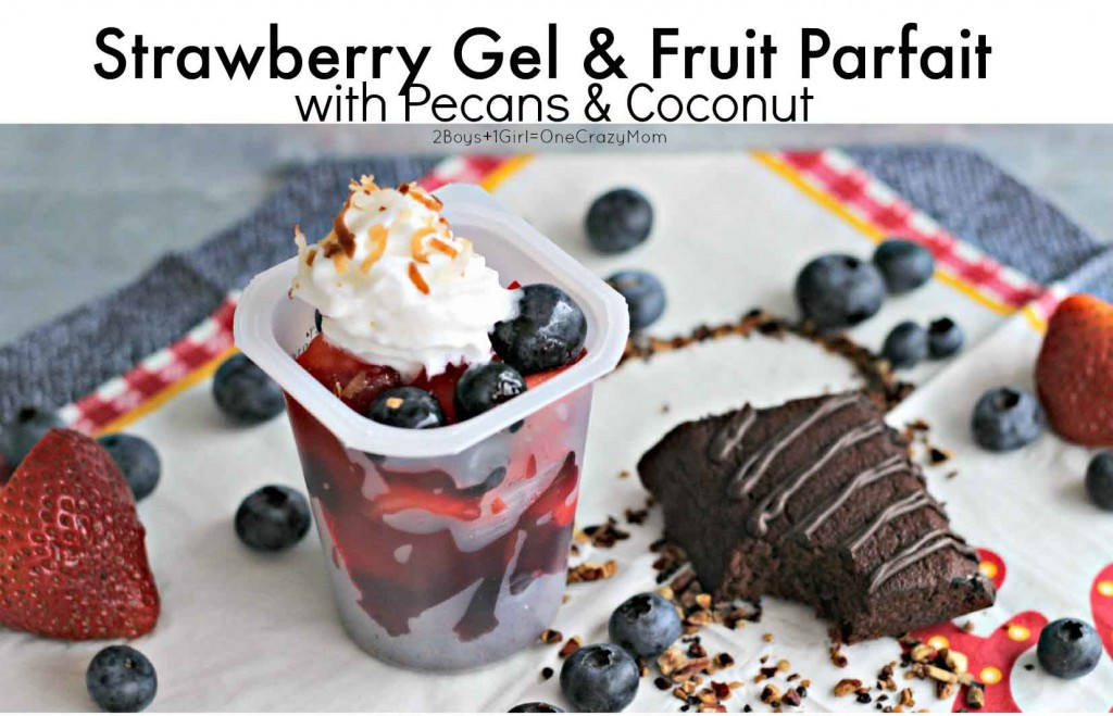 Strawberry Gel & Fruit Parfaits are the perfect summer snack #SnackPackMixins