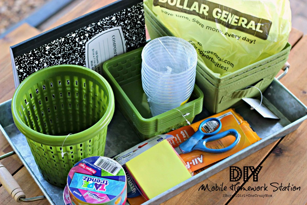 You can find lots of organizing thinks at Dollar General for Bck to School