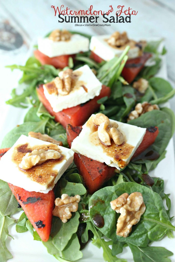 #FireUpTheGrill for this Watermellon and Feta Summer salad #recipe